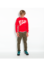 American Outfitters AO sweater rood met 'planet' opdruk