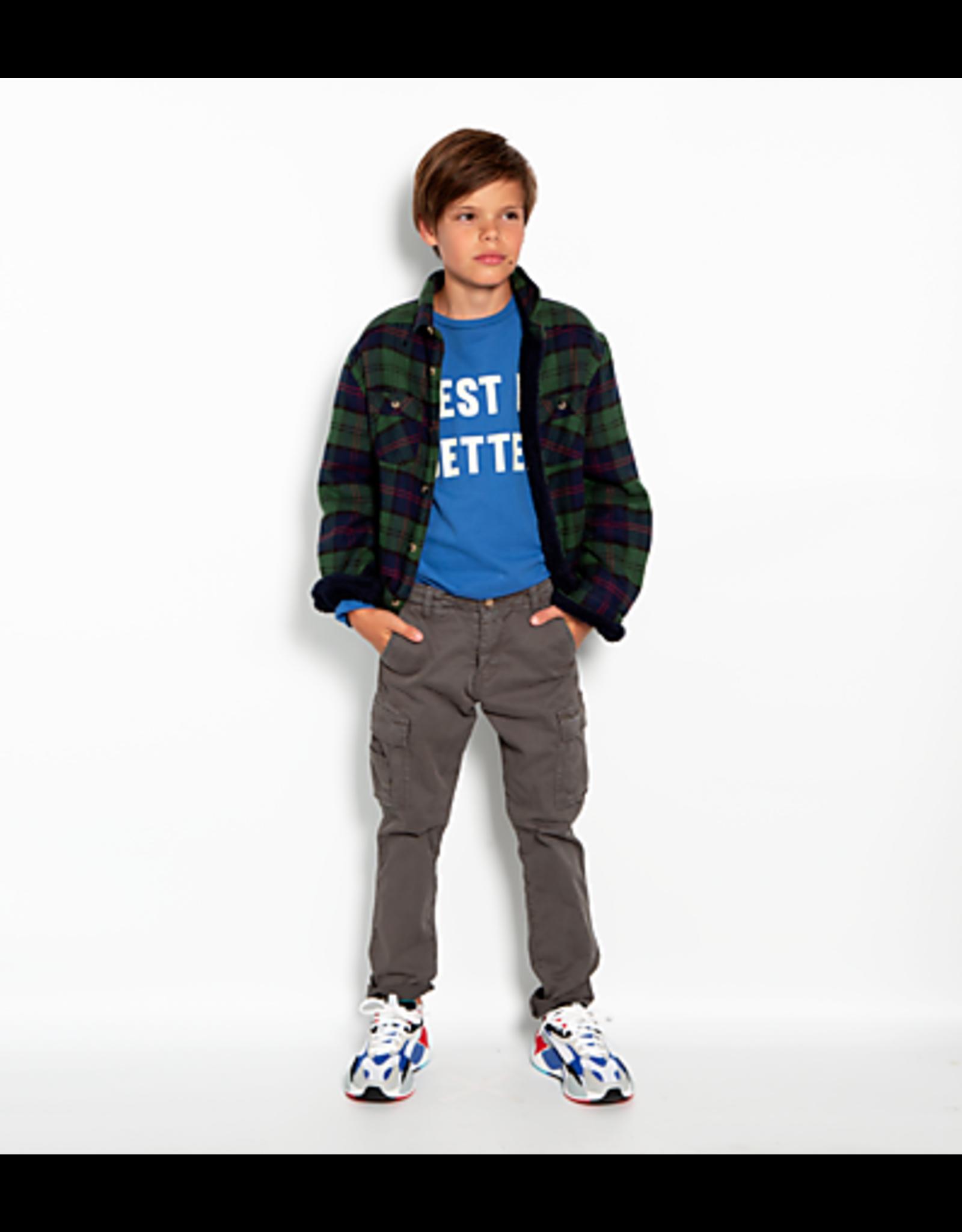 American Outfitters AO t-shirt lange mouwen blauw 'better' opdruk