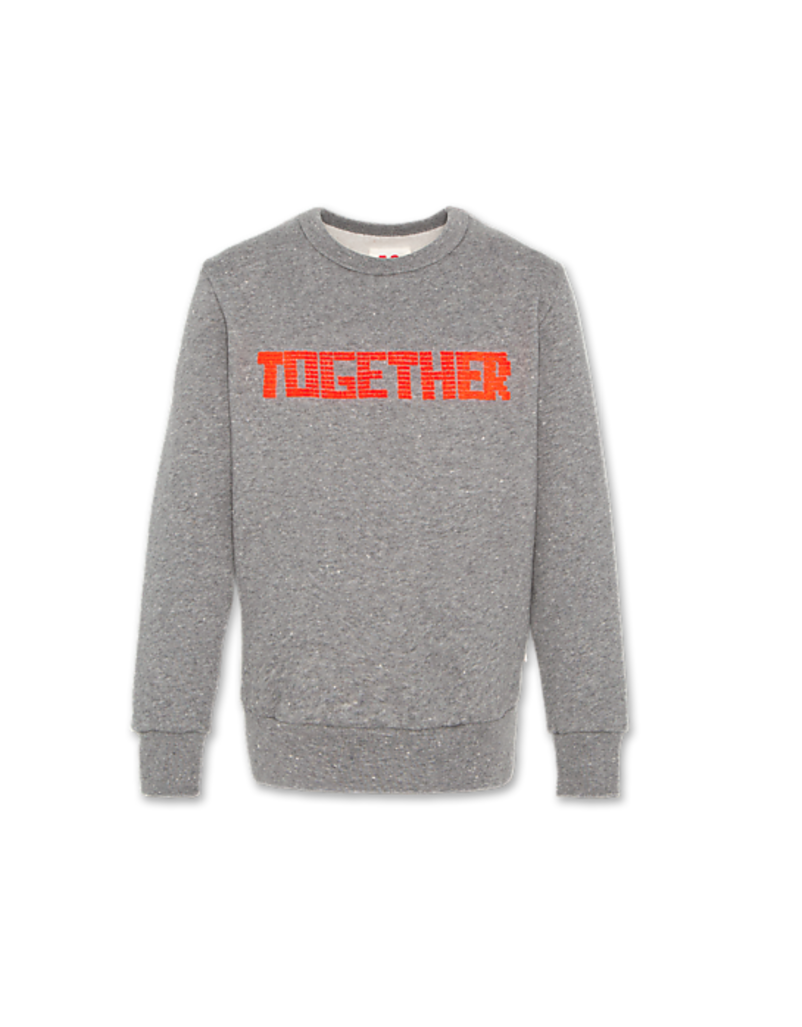 American Outfitters AO sweater grijs met 'together' rood opdruk