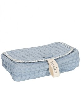 Koeka Koeka Hoes voor Babydoekjes Antwerp Wafel Soft Blue