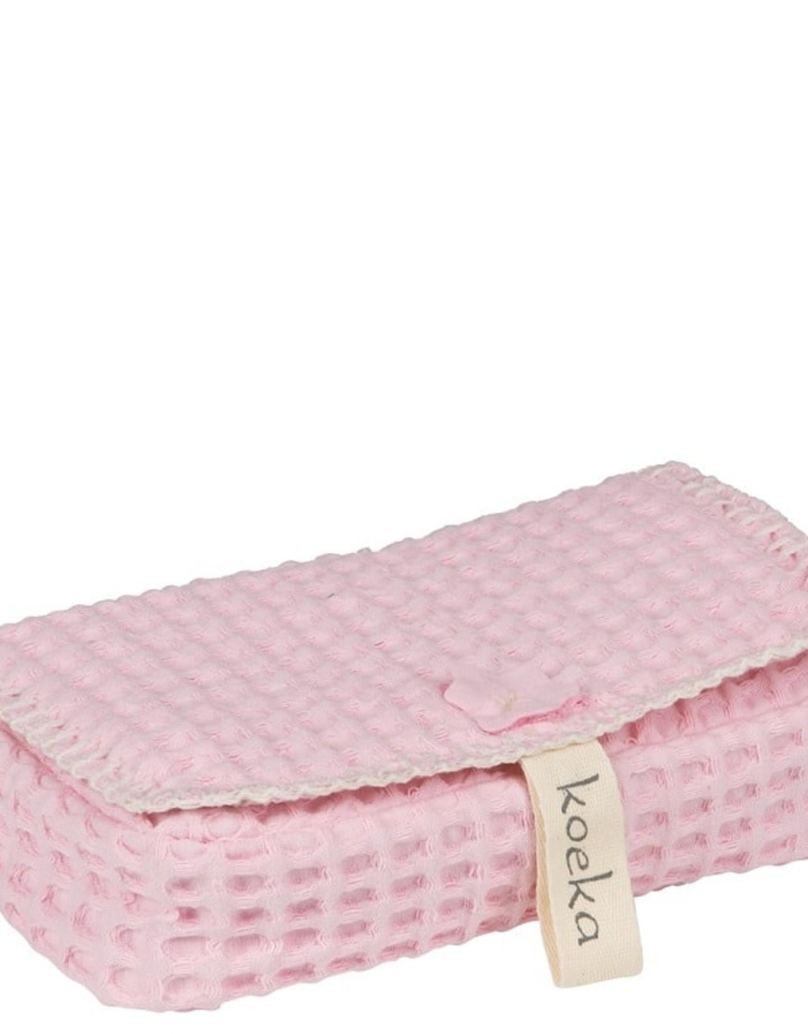 Koeka Koeka Hoes voor Babydoekjes Antwerp Wafel Old Baby Pink