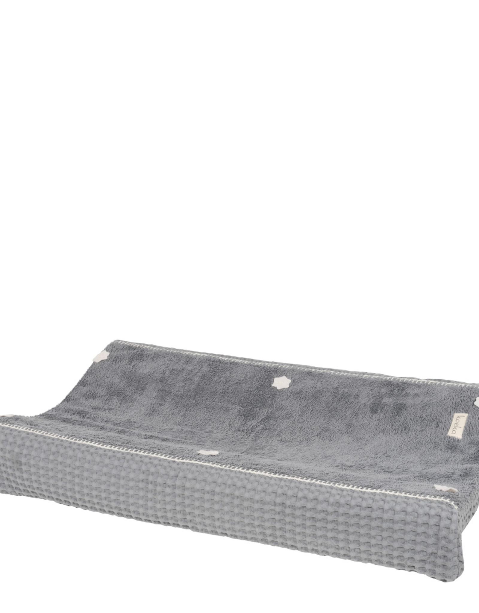 Koeka Koeka Aankleedkussenhoes 45x73 Amsterdam Wafel Steel Grey