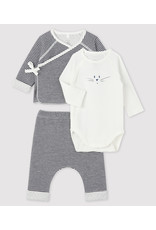 Petit Bateau Petit Bateau Driedelige Dubbelgeweven Babyset