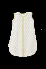 Fresk Fresk Zomerslaapzak Mouwloos Muslin-katoen Wit met Vintage Geel Haver