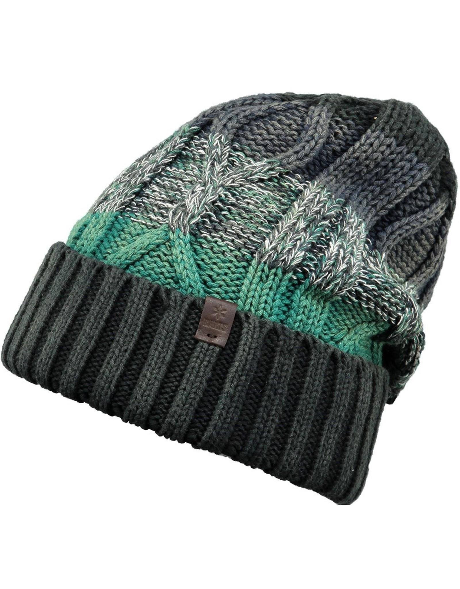 Barts Barts muts kabel zwart, lichtblauw, groen