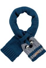 Barts Barts sjaaltje donkerblauw met grijs diertje onderkant oogjes