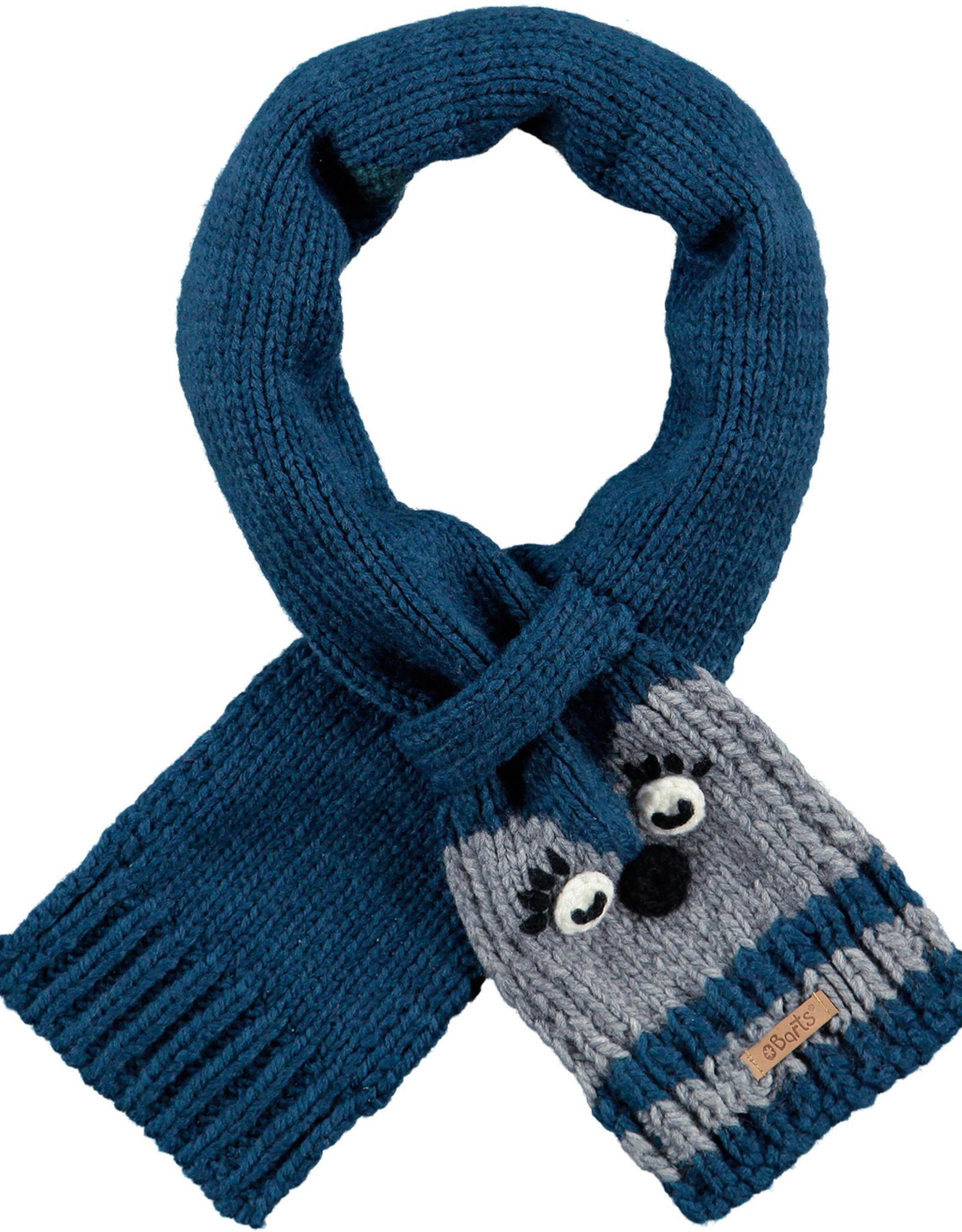 Barts Barts sjaaltje donkerblauw met grijs diertje