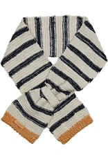 Barts Barts sjaaltje beige blauw gestreept met goud einde