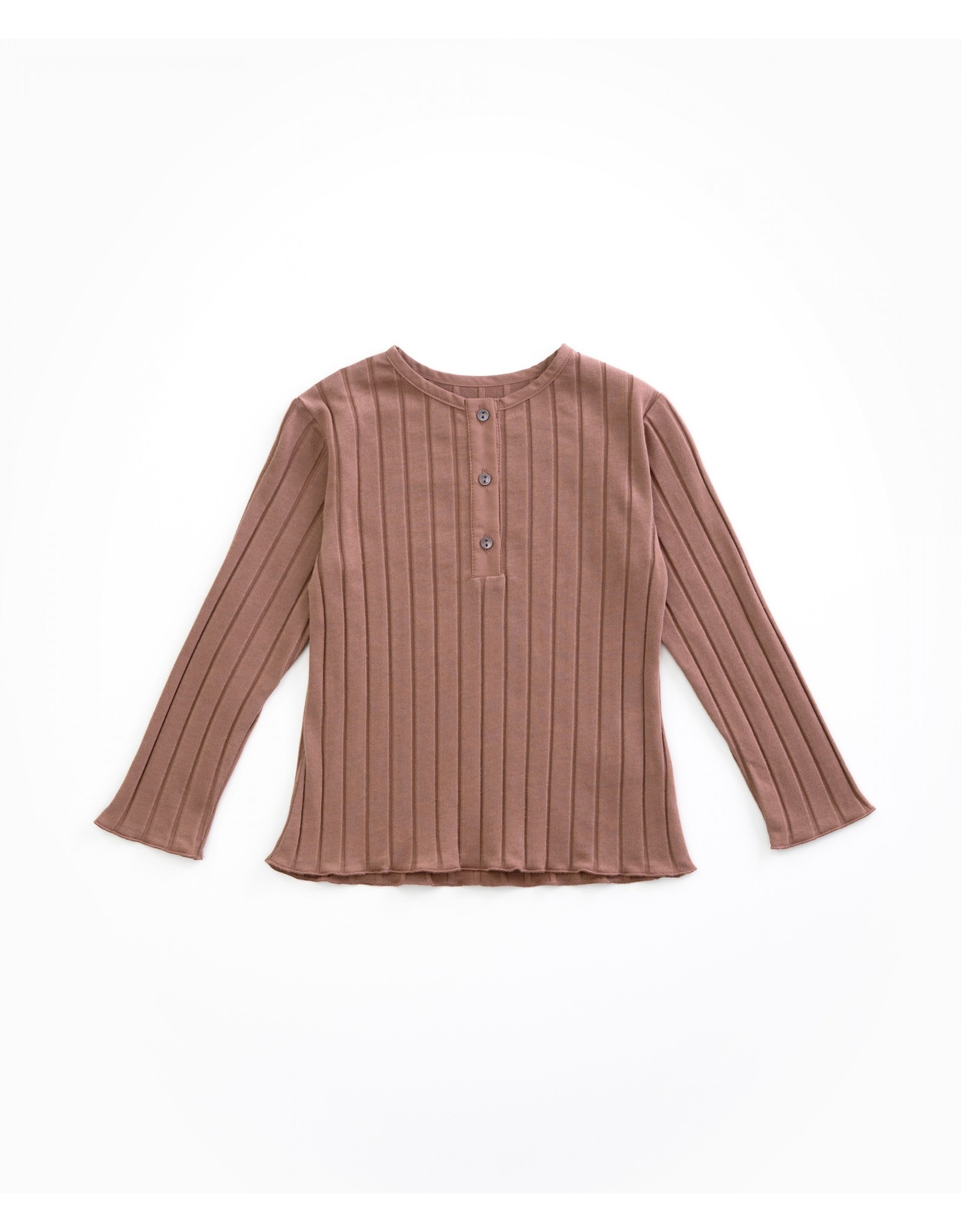 Play Up Play Up Rib Shirtje met knoopjes woodwork