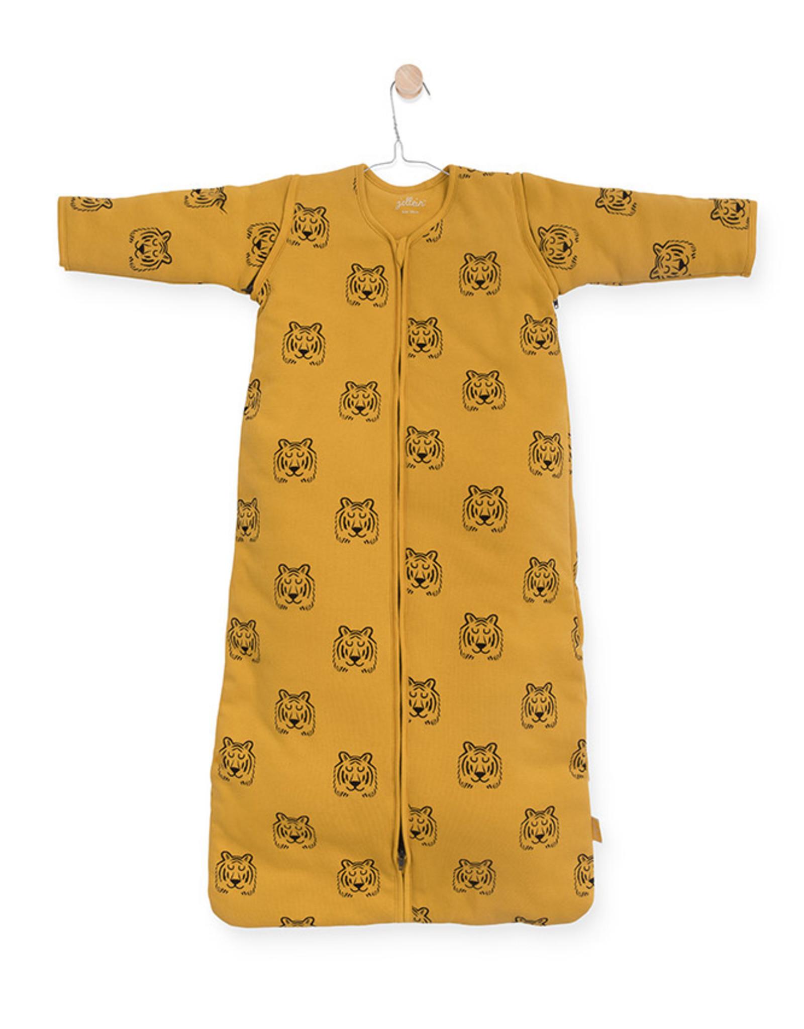 Jollein Jollein babyslaapzak met afritsbare mouwen - Tiger Mustard