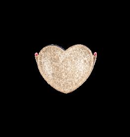 Le Big Le Big Gouden Glitter Hart Tasje