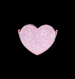 Le Big Le Big Roze Glitter Hart Tasje