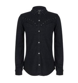 Indian Blue Jeans IBJ Denim Shirt Zwart