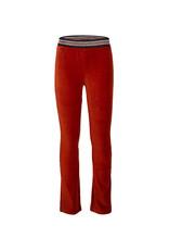 Indian Blue Jeans IBJ Velvet Flare Rib Broek Roest