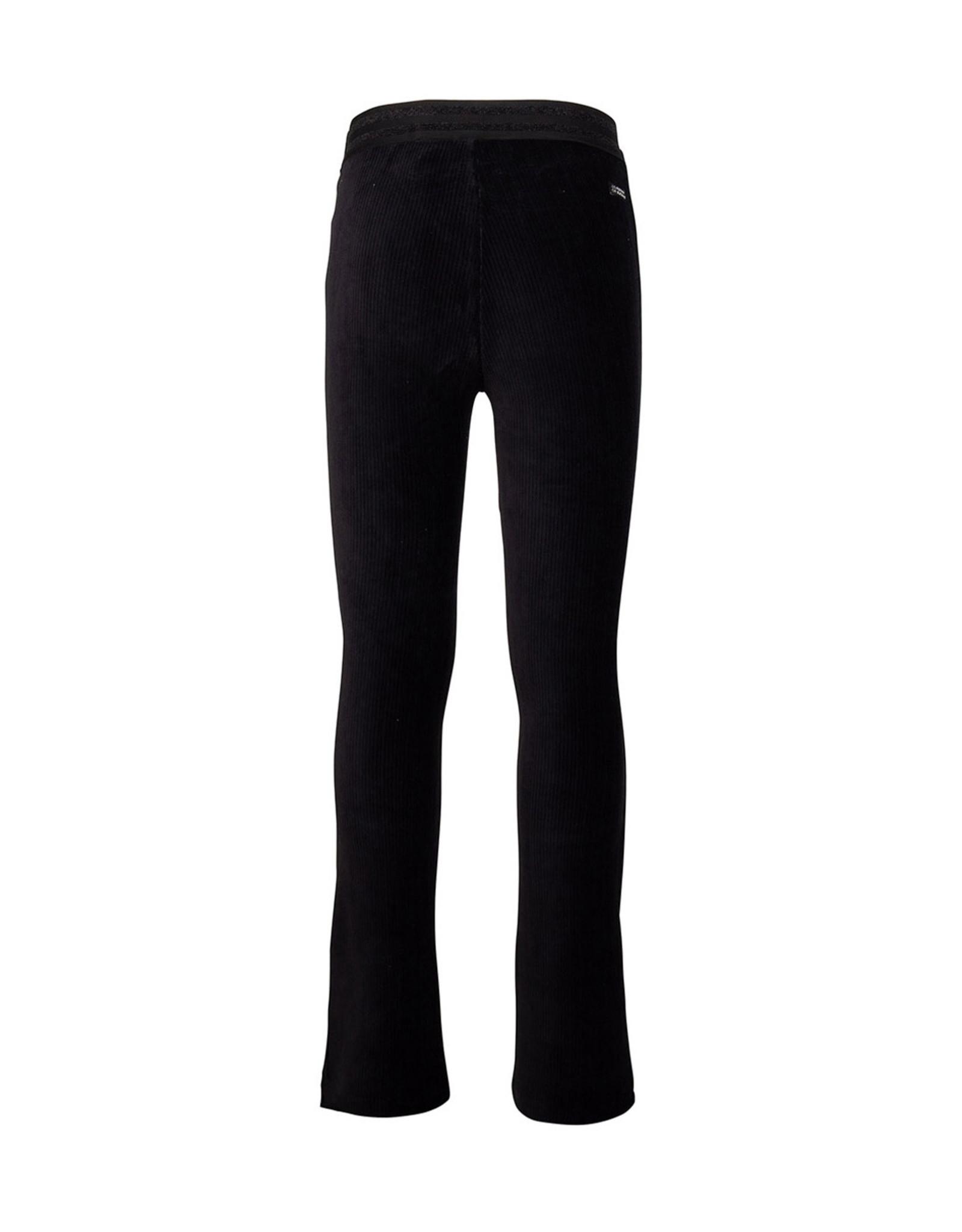 Indian Blue Jeans IBJ Velvet Flare Rib Broek Zwart