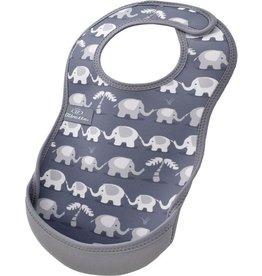 Bibetta Bibetta slab olifant grijs zonder mouw