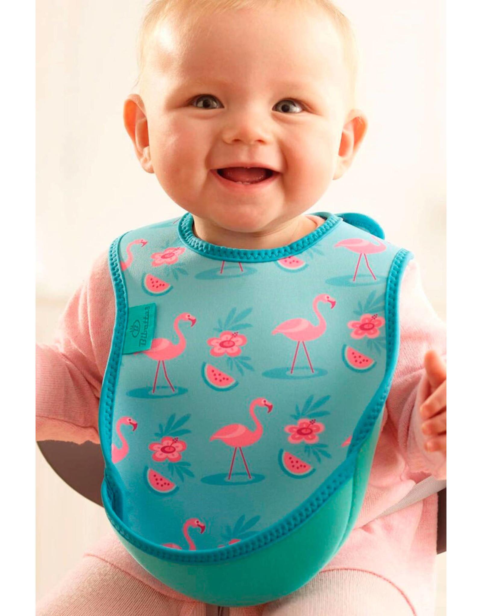 Bibetta Bibetta slab flamingo zeegroen zonder mouw