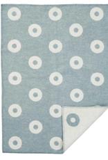 Klippan Klippan Premium Wol Wiegdeken Rings Blauw 65x90