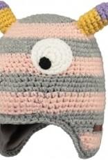 Barts Barts monster muts roze met grijs ogen