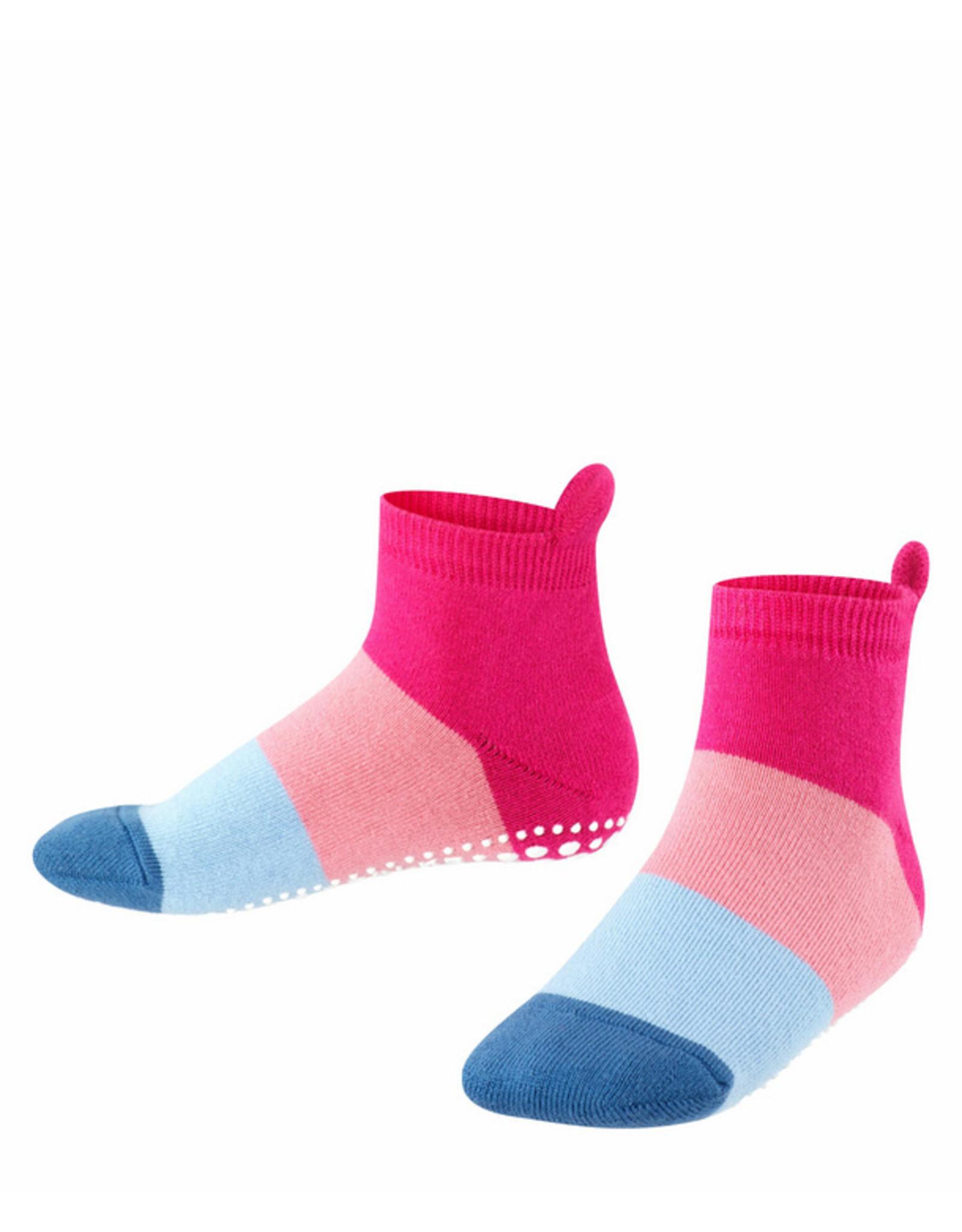 Falke Falke anti-slip sokken gestreept roze blauw