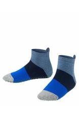 Falke Falke anti-slip sokken gestreept blauw grijs
