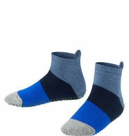 Falke Falke Catspads anti-slip huissloffen gestreept blauw grijs