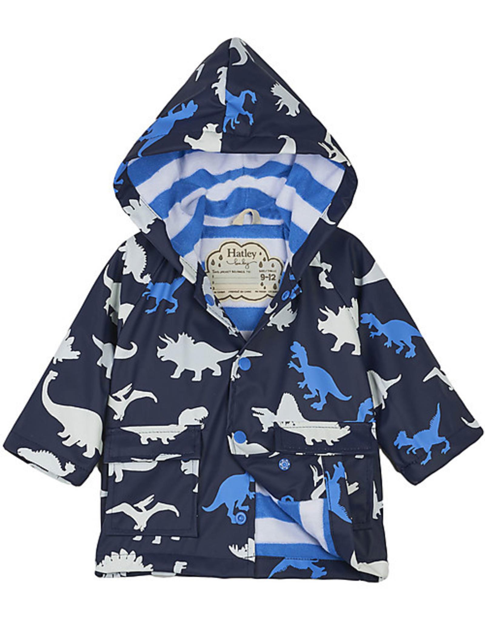 Hatley Hatley gevoerde regenjas dino blauw