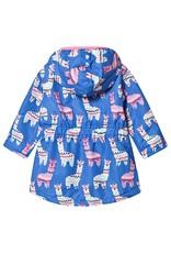 Hatley Hatley gevoerde regenjas lama blauw met roze