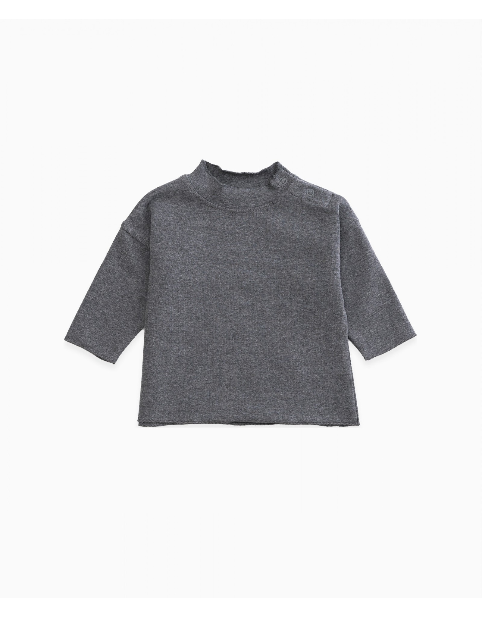 Play Up Play Up shirtje met zijkant knoopjes Grey Melange (grijs)