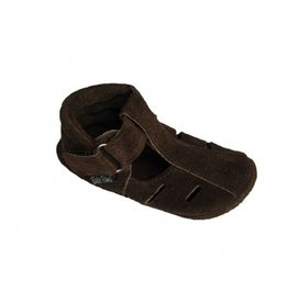 Baby Paws Baby Paws Schoentjes Summa Sandal Suede Chocolade Bruin