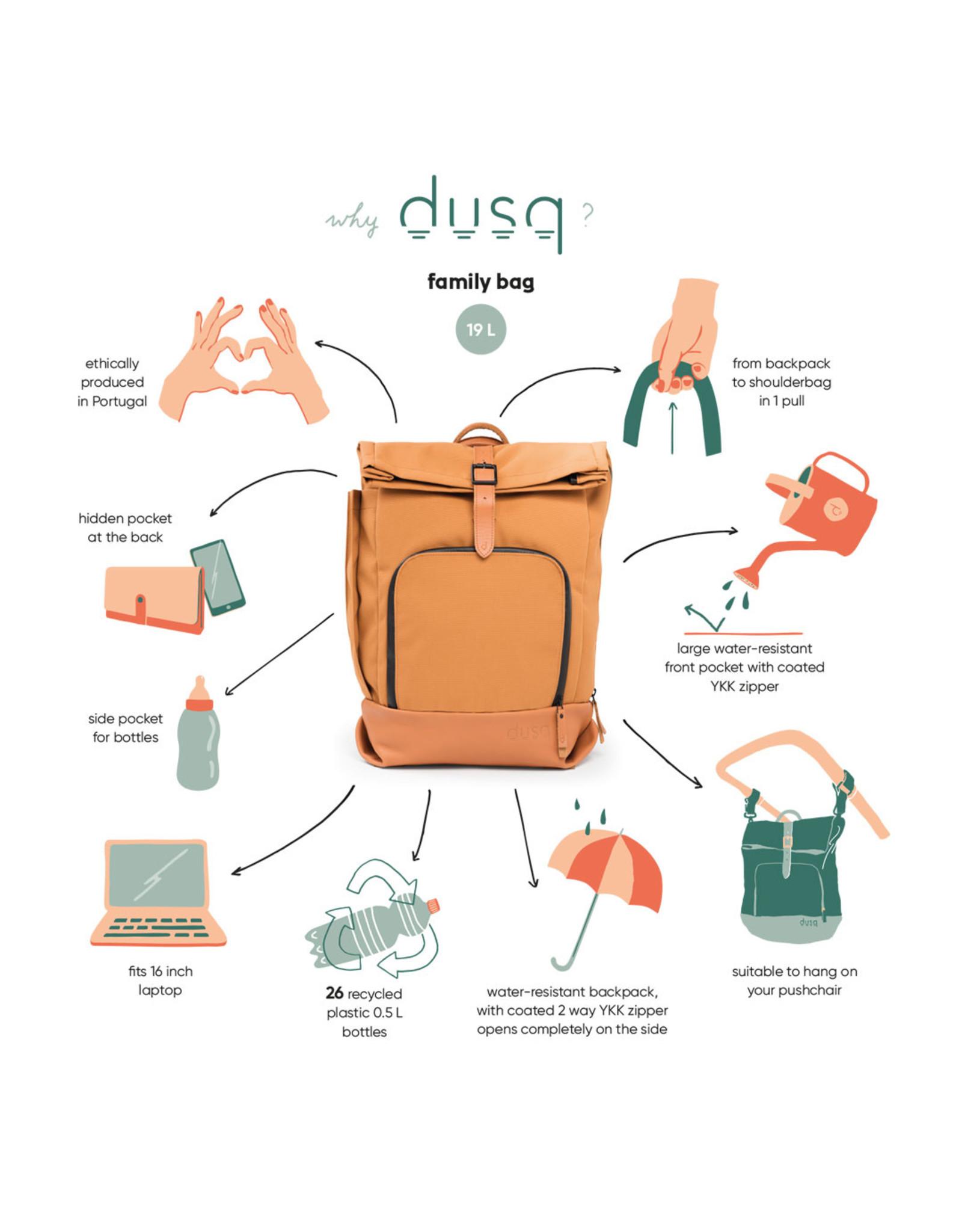 Dusq Dusq 'Family Bag' Leren Rugtas Night Black