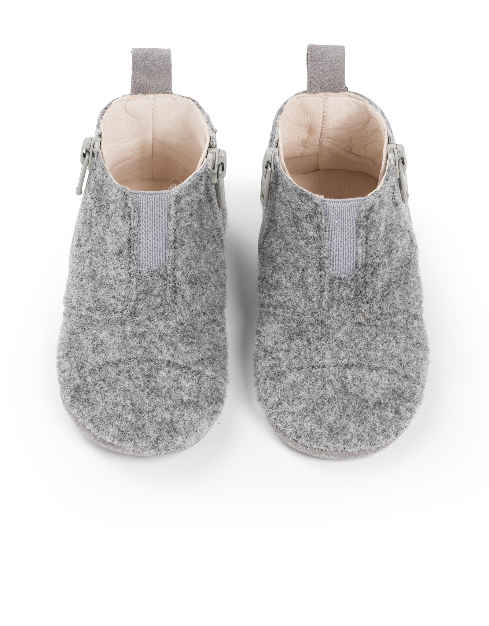 Dusq Dusq Babyschoentjes Wol Misty Grey
