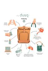 Dusq Dusq 'Family Bag' Leren Rugtas Sunset Cognac