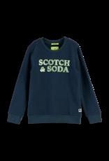 Scotch Shrunk Scotch Shrunk sweater navy met artwork