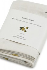 Konges sløjd Konges Sløjd 3-Pack Muslin Doekjes Lemon