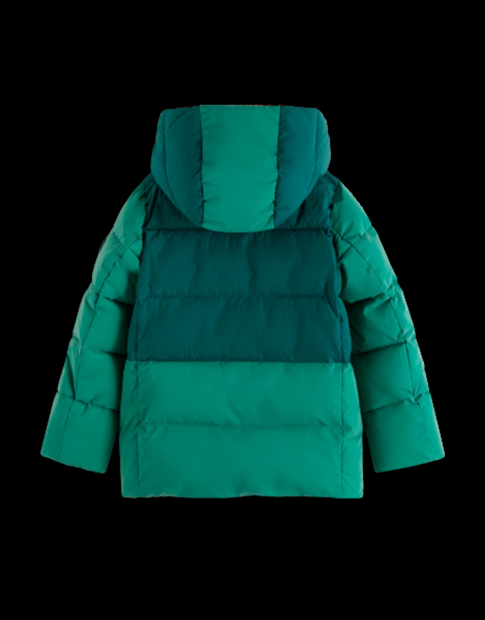 Scotch Shrunk Scotch Shrunk groene reflecterende jas met capuchon