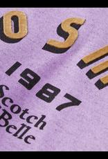 Scotch R'Belle Scotch R'Belle lila hoodie met opdruk en rugdetail