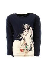 Stones and Bones Stones and Bones 'Blissed' paard shirt navy