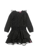 Jubel Jubel zwart voile jurkje met print