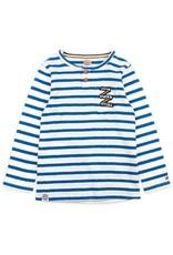 Sturdy Sturdy witte dunne trui met blauwe strepen