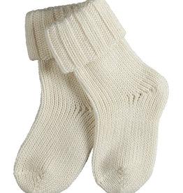 Falke Falke Flausch baby sokjes off-white