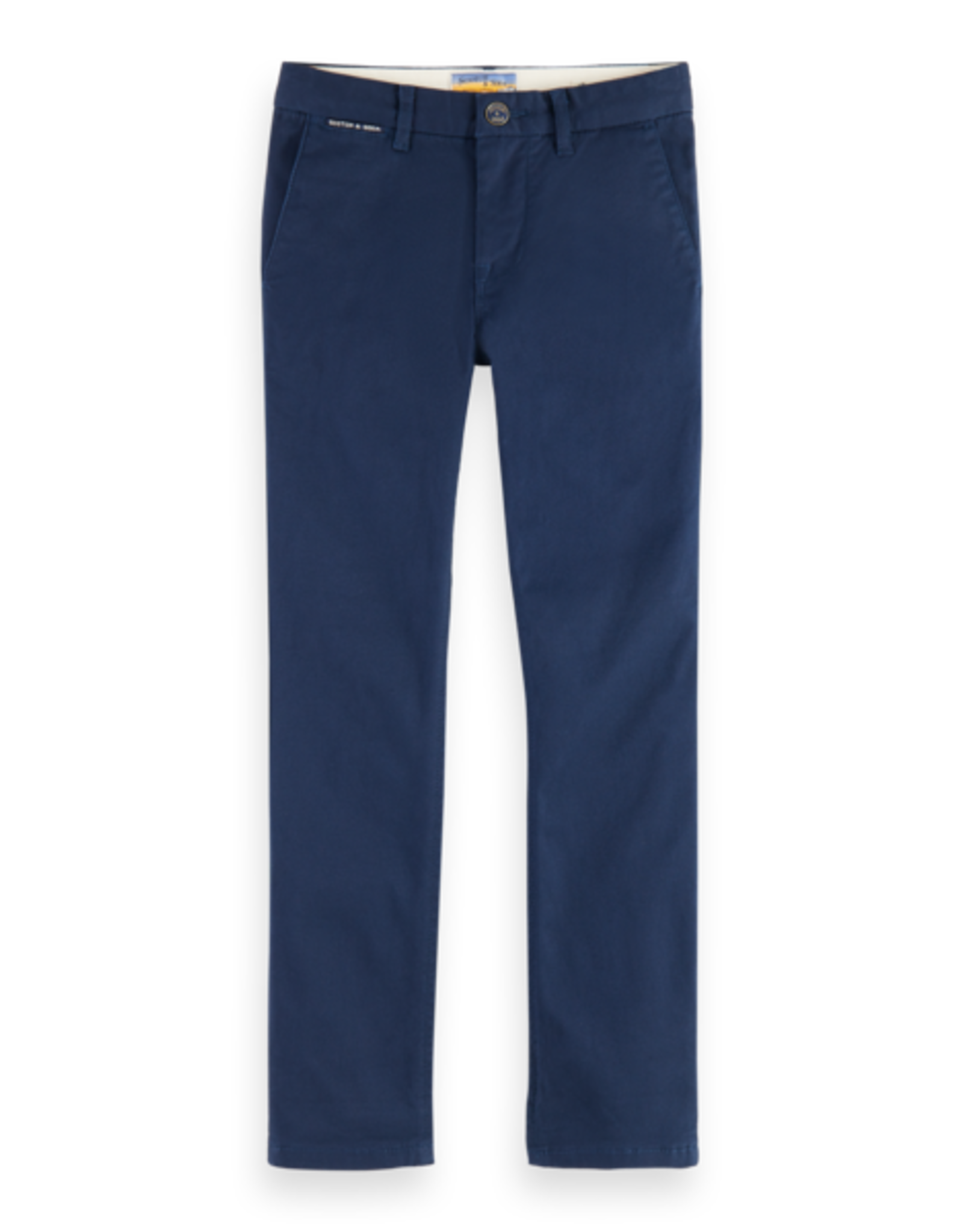 Scotch Shrunk Scotch Shrunk slim fit chino broek navy