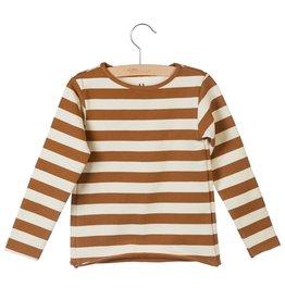 Little Hedonist Little Hedonist dunne trui met lange mouwen bruin/off-white
