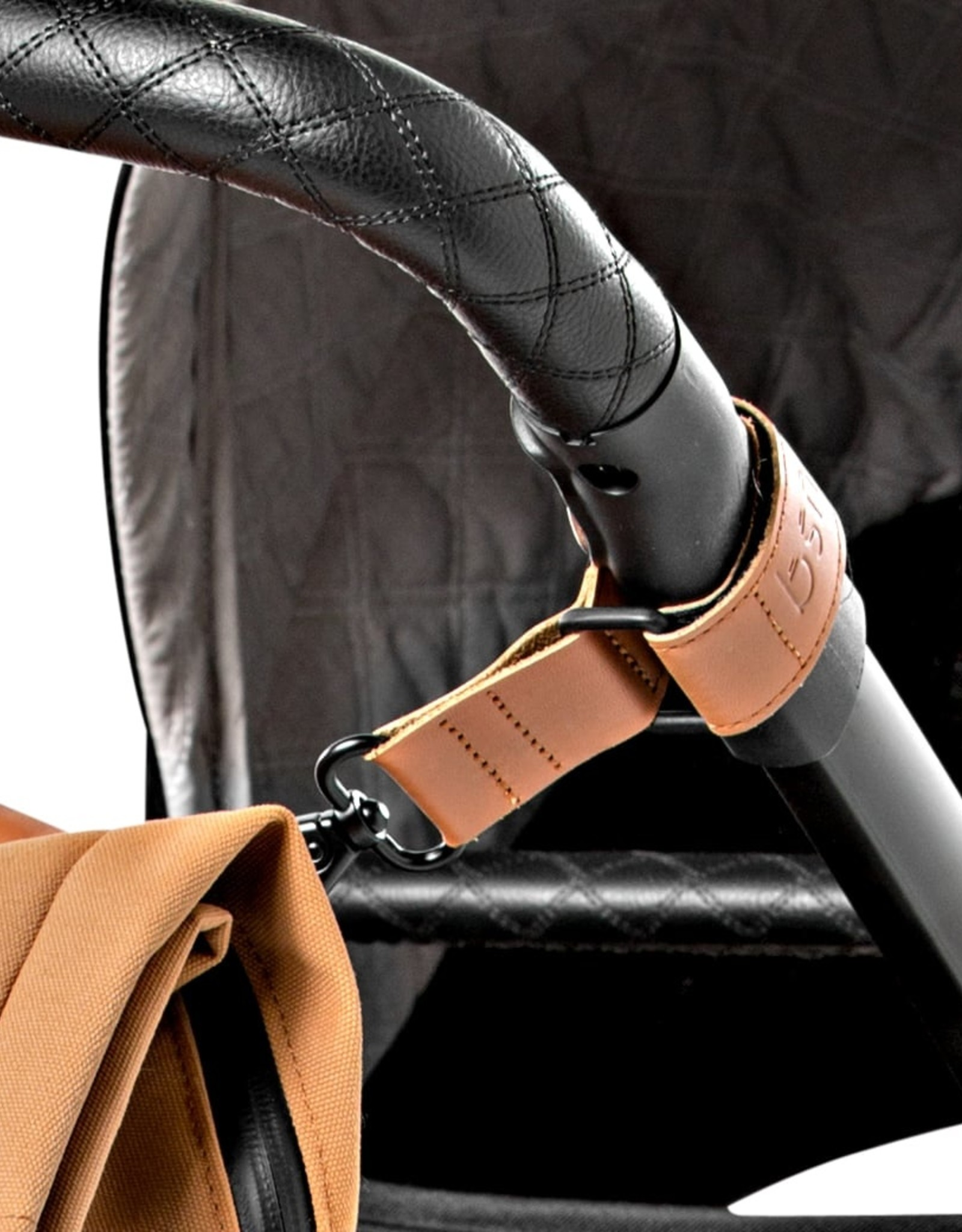 Dusq Dusq stroller straps sunset cognac leather