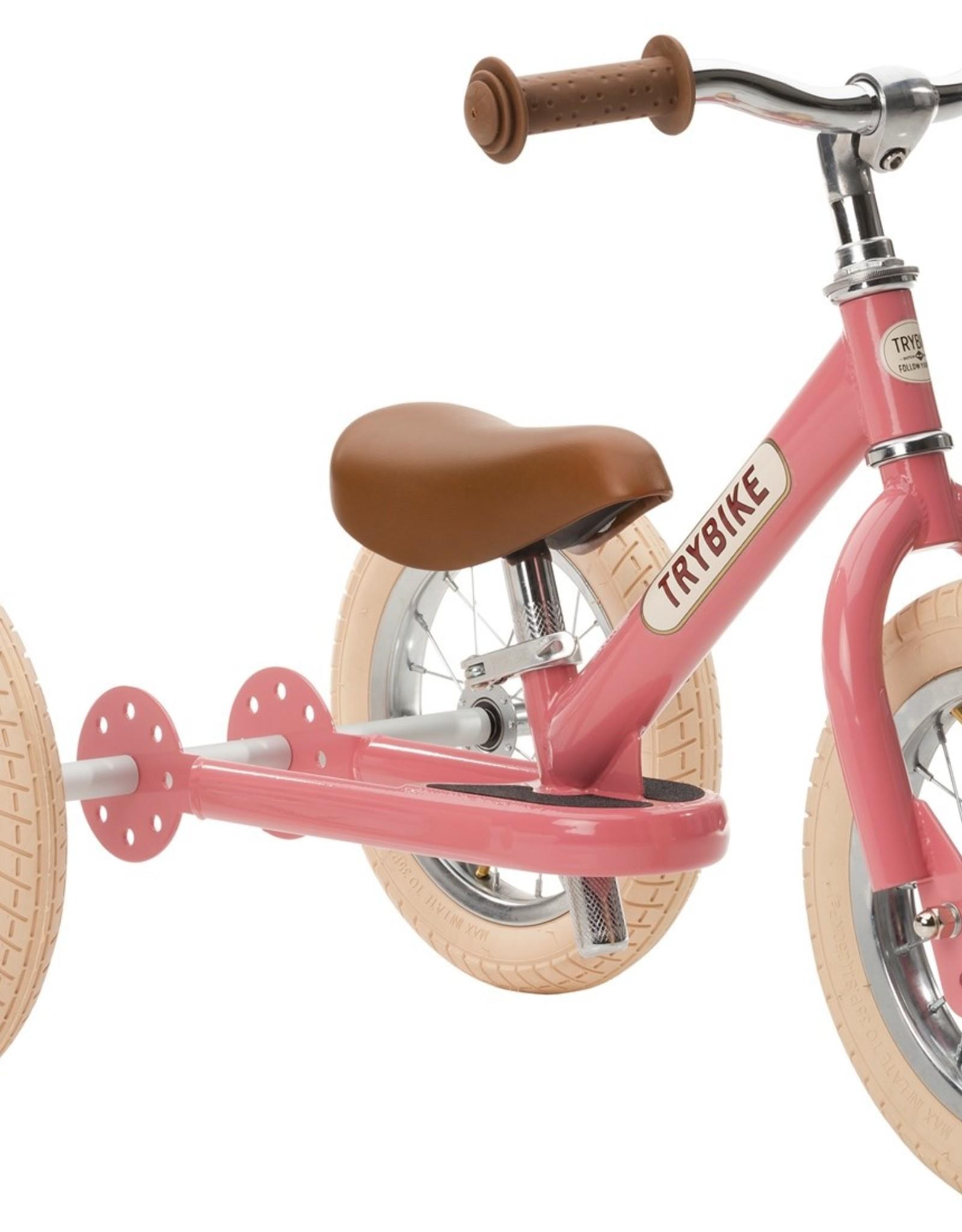 Trybike Trybike 2-in-1 loopfiets Steel Vintage Pink