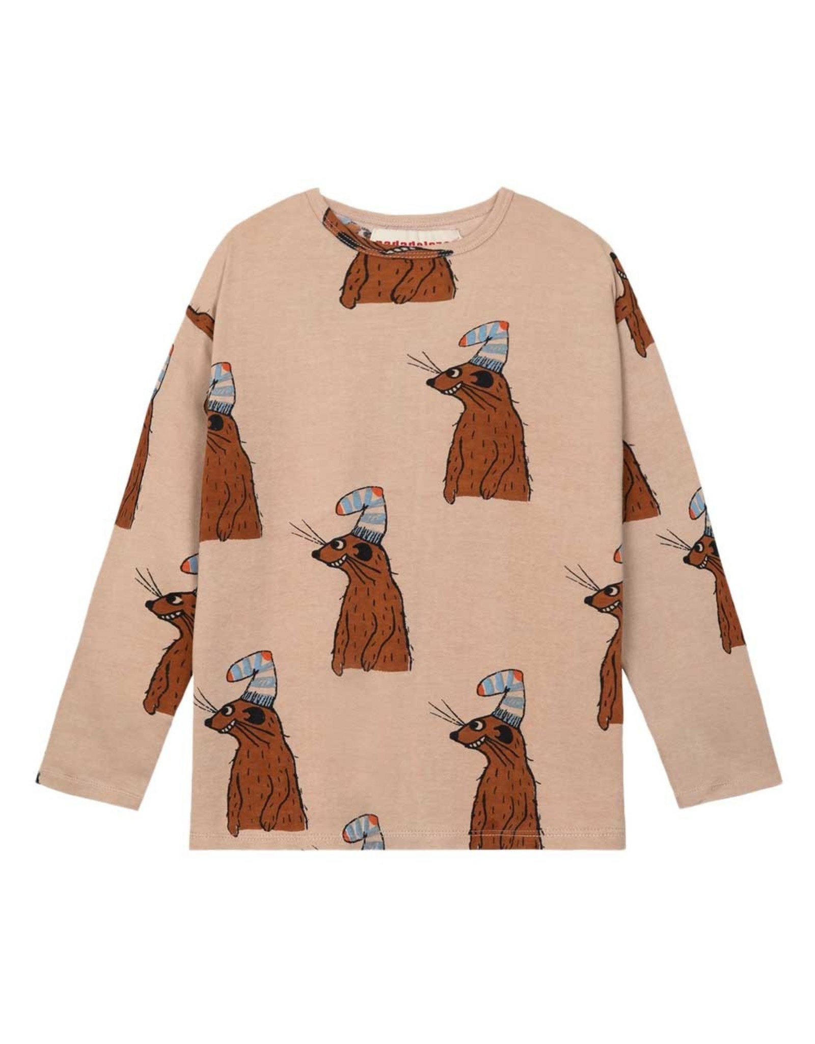 Nadadelazos Nadadelazos T-Shirt met Lange Mouwen Squirrel & Hat