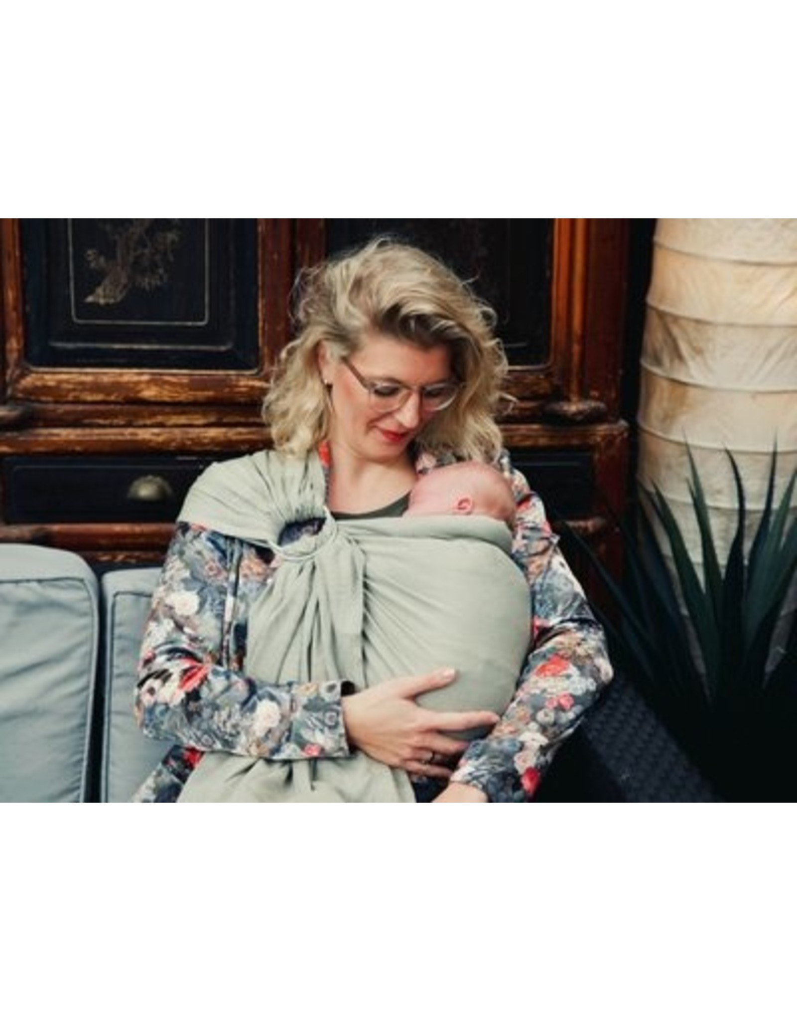 Pure Baby Love Pure Baby Love Organic ringsling olive