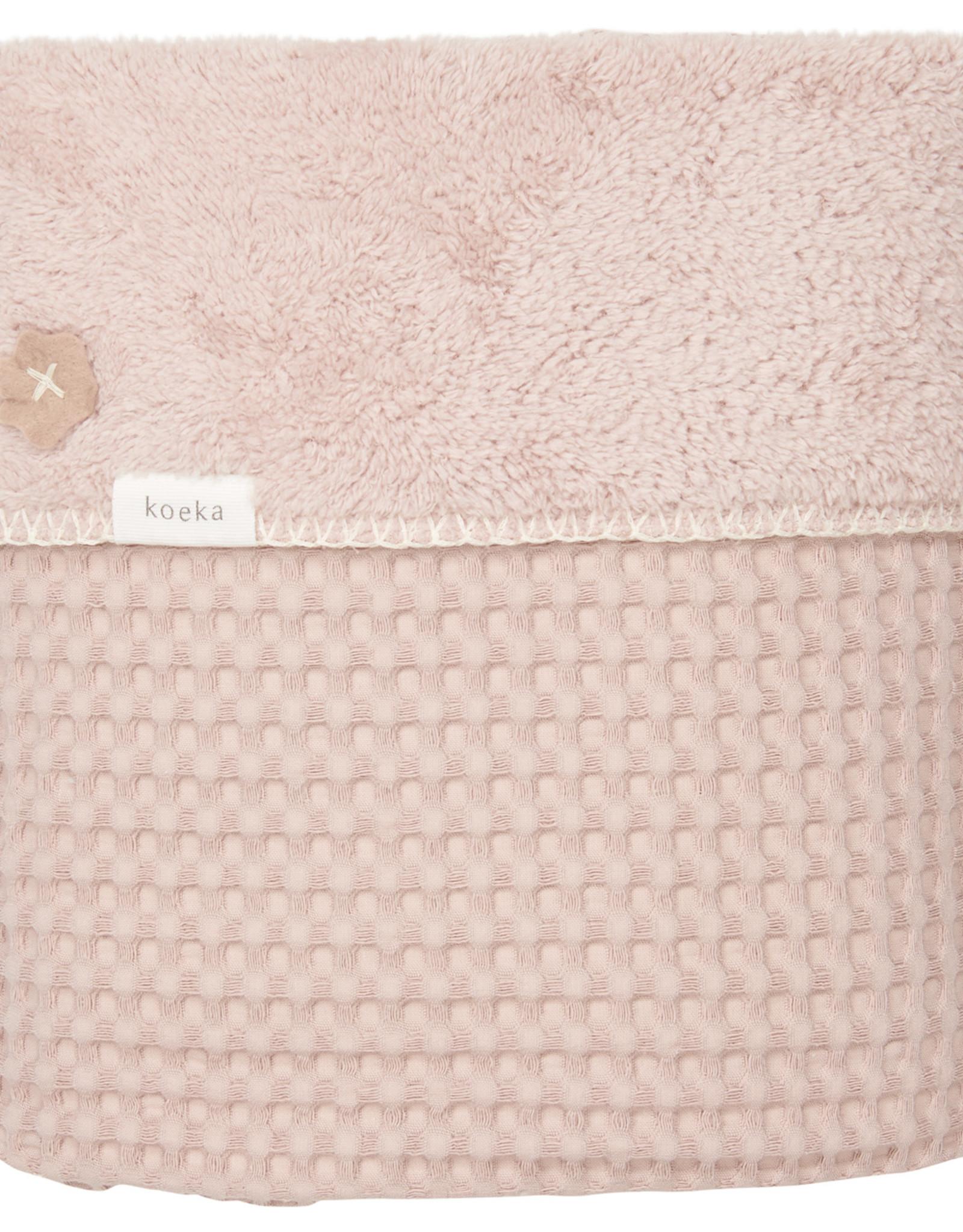 Koeka Koeka Ledikantdeken Oslo Grey Pink 100x150