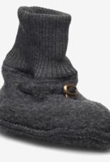 Mikk-Line Mikk-Line 'Wool Footies' instappers Anthracite Melange