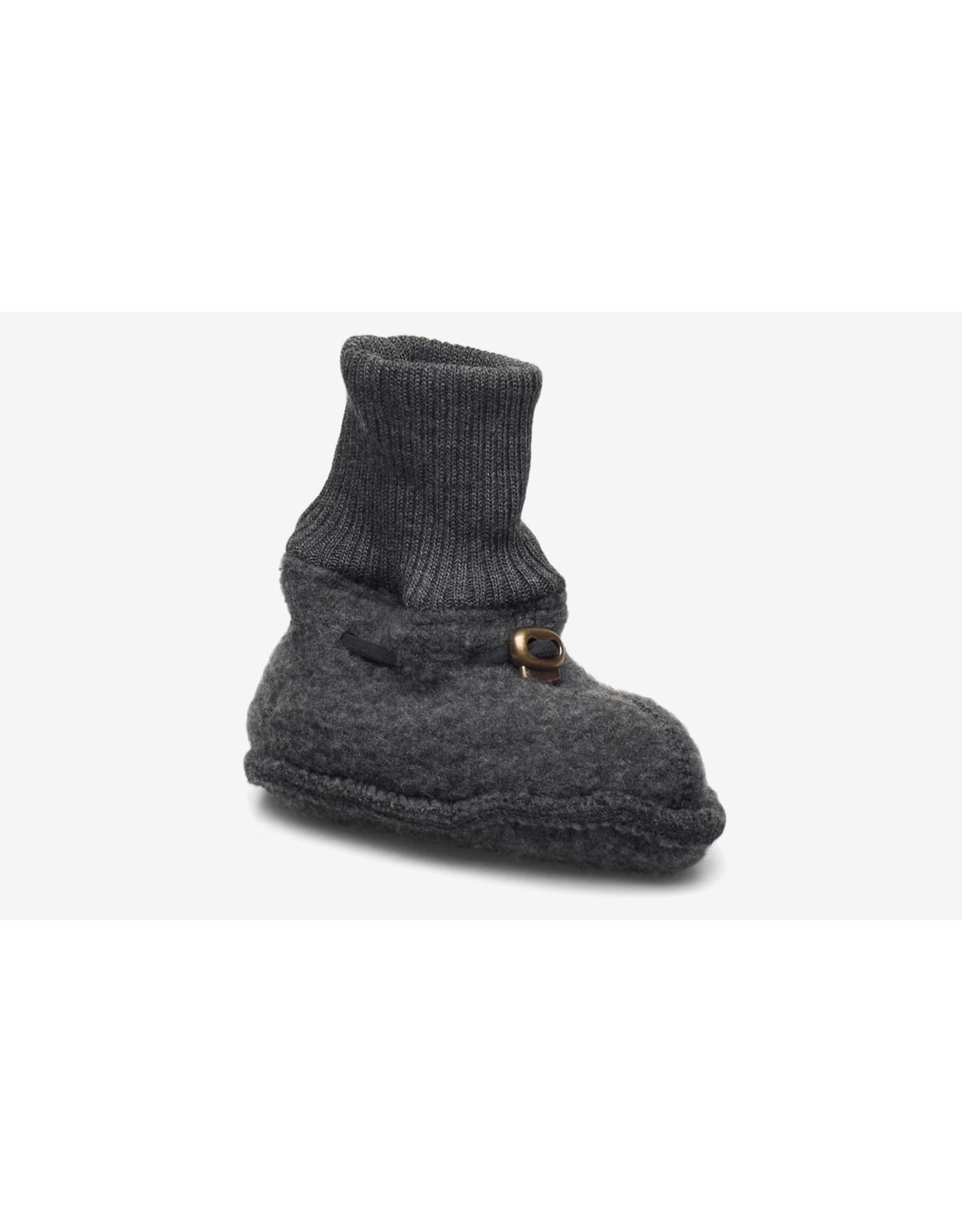 Mikk-Line Mikk-Line 'Wool Footies' instappers Anthracite Melange